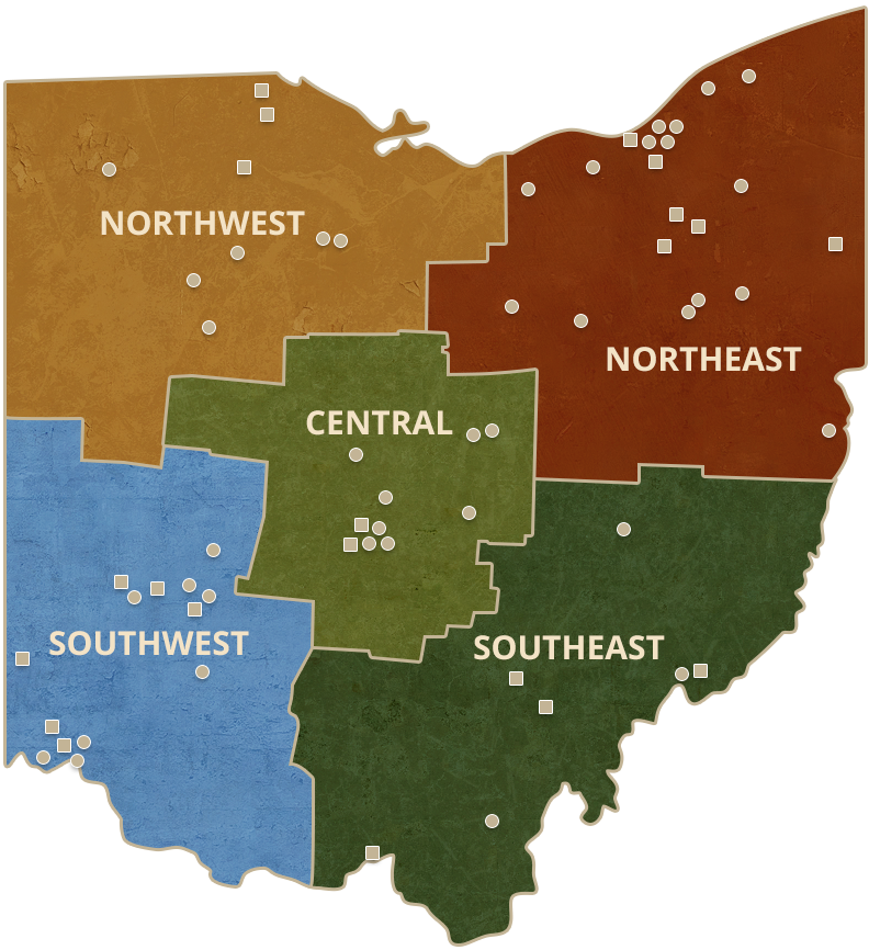 Map of Ohio Colleges